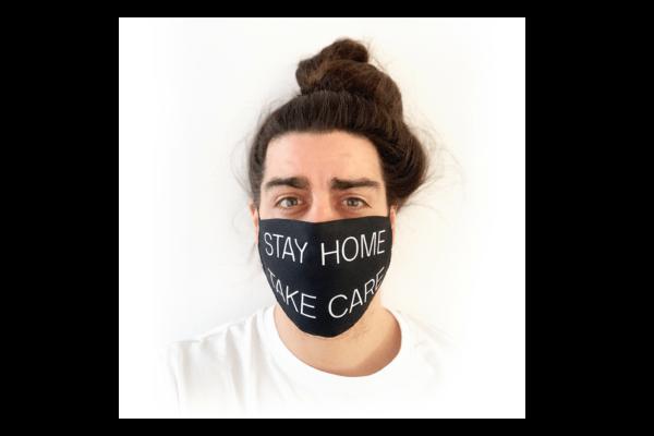 Stay Home Take Care mintás sima szájmaszk termék kép