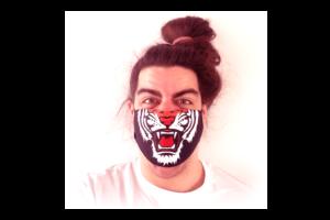 Tigris grafika mintás sima szájmaszk termék kép