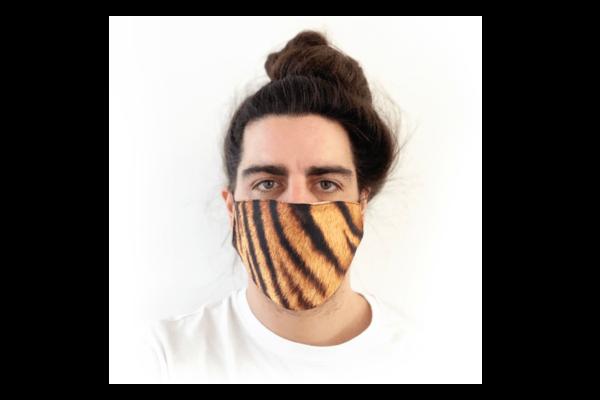 Tigris mintás sima szájmaszk termék kép
