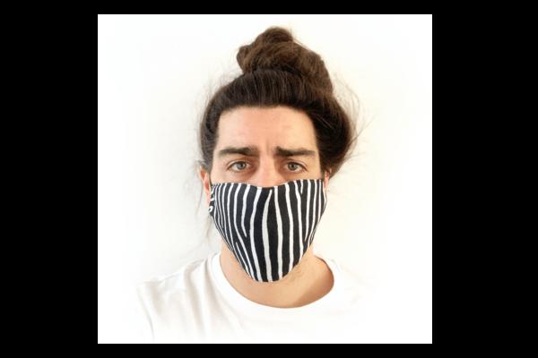 Zebra mintás sima szájmaszk termék kép
