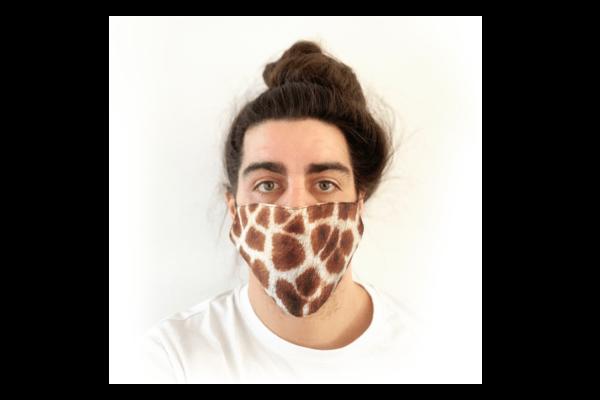 Zsiráf mintás sima szájmaszk termék kép