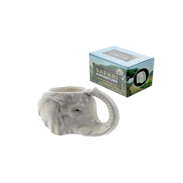 Elefánt fej formájú kerámia bögre termék kép