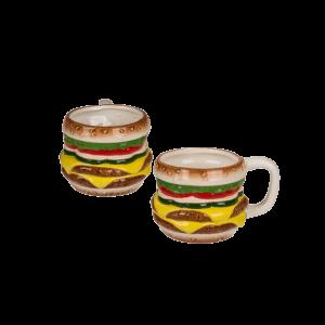 Hamburger formájú kerámia bögre termék kép