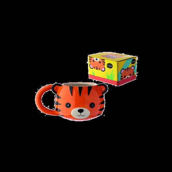 Kis tigris fej kerámia bögre termék kép
