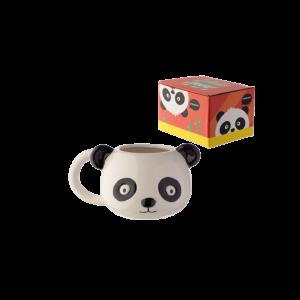 Panda fej formájú kerámia bögre termék kép