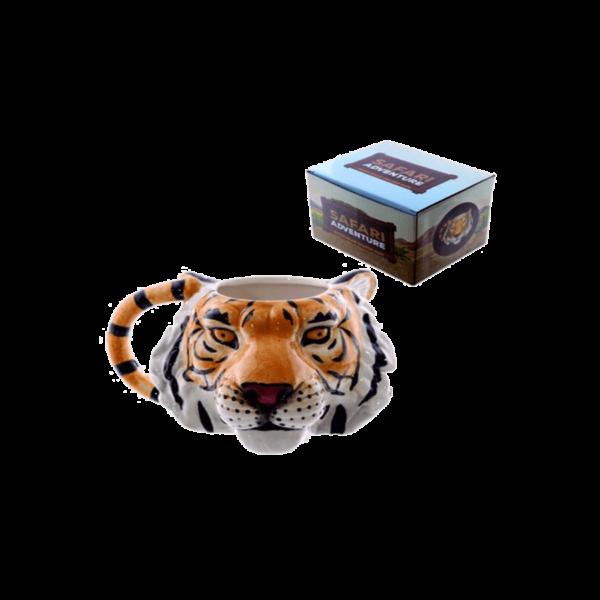Tigris fej kerámia bögre termék kép