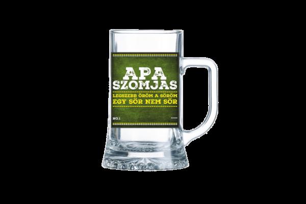 Apa Szomjas sörös korsó termék kép