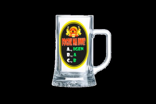 Fogok ma inni sörös korsó termék kép