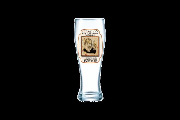 Itt az idő egy újabb sörre sörös pohár termék kép
