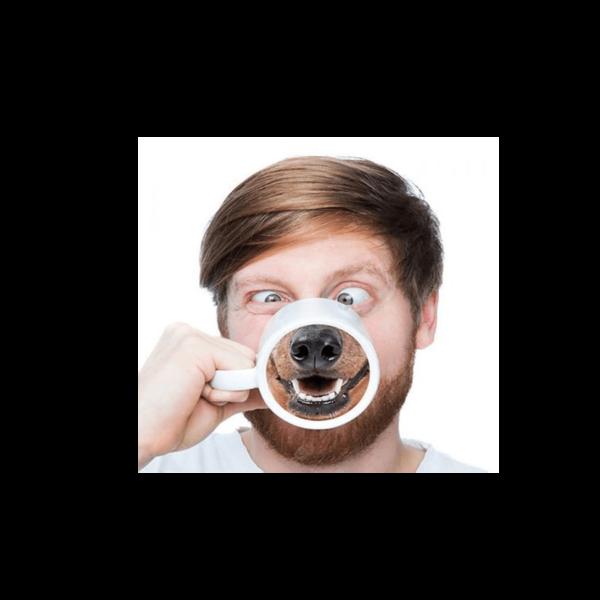 Kutya orr aljú vicces kerámia bögre termék kép