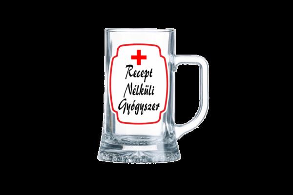 Recept nélküli gyógyszer sörös korsó termék kép