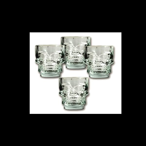Kristálykoponya feles pohár (4 db) termék kép