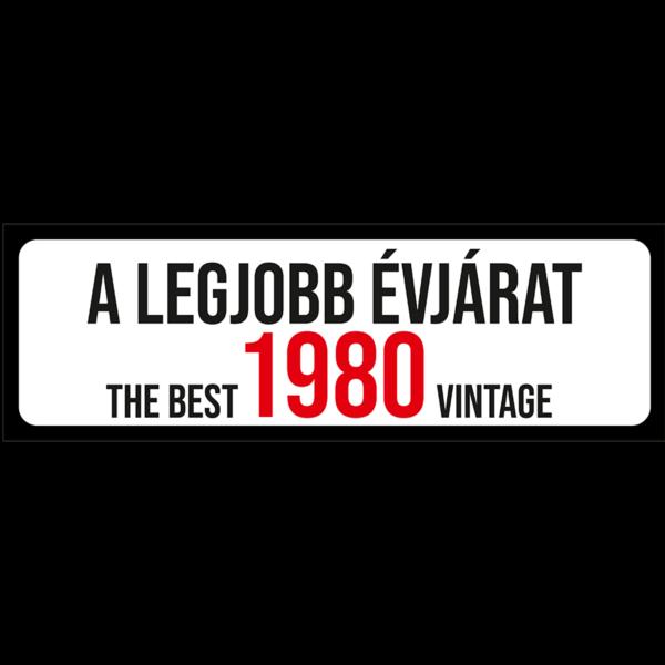 A legjobb évjárat 1980 évszámos rendszámtábla termék kép