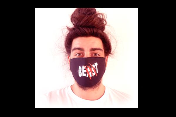 Beast-Szörnyeteg mintás sima szájmaszk termék kép