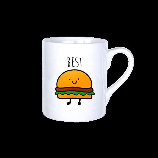 Best friends hamburger vicces bögre termék kép