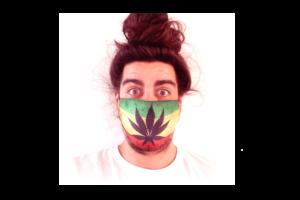 Cannabis-Zászló mintás sima szájmaszk termék kép
