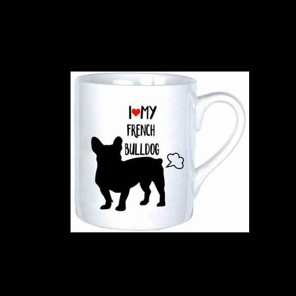 I Love My French Bulldog vicces bögre termék kép