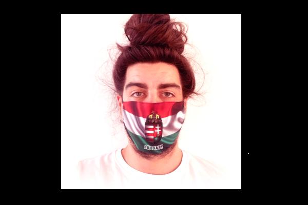 Magyar Zászló Címerrel mintás sima szájmaszk termék kép
