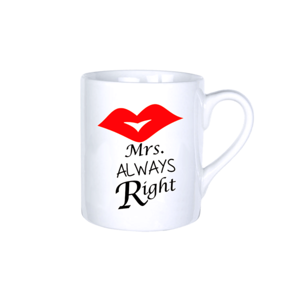 Mrs. Always Right vicces bögre termék kép