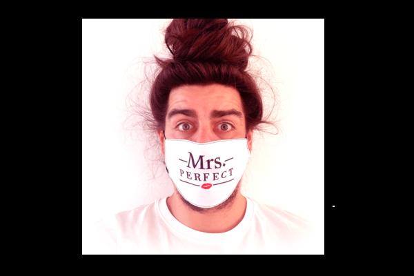 Mrs. Perfect mintás sima szájmaszk termék kép