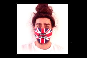 Punks Not Dead-Britt Zászló mintás sima szájmaszk termék kép