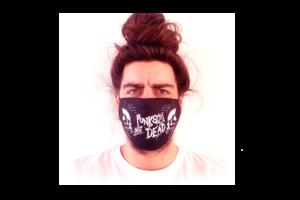 Punks Not Dead-Koponya mintás sima szájmaszk termék kép