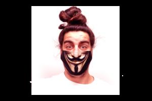 Anonymus 2 mintás sima szájmaszk termék kép