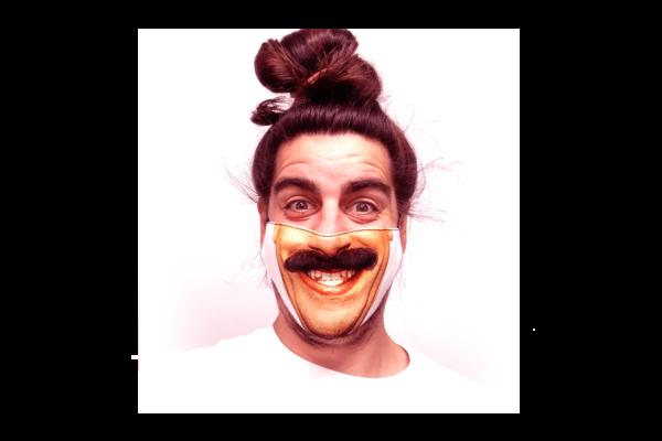 Borat mintás sima szájmaszk termék kép