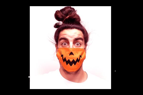 Halloween mintás sima szájmaszk termék kép