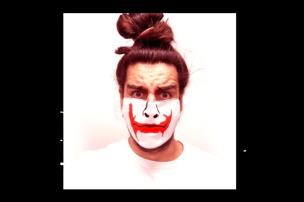 Joker grafika mintás sima szájmaszk termék kép