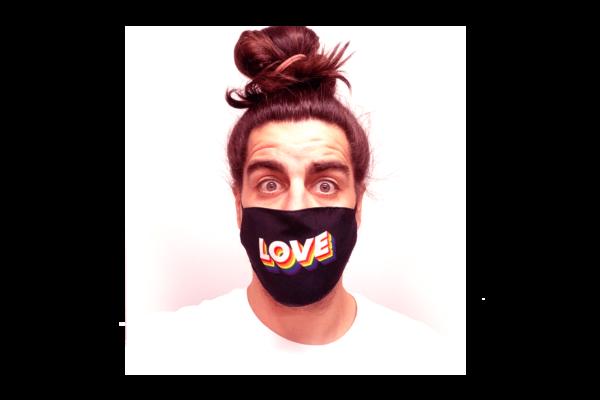 Love 2 mintás sima szájmaszk termék kép