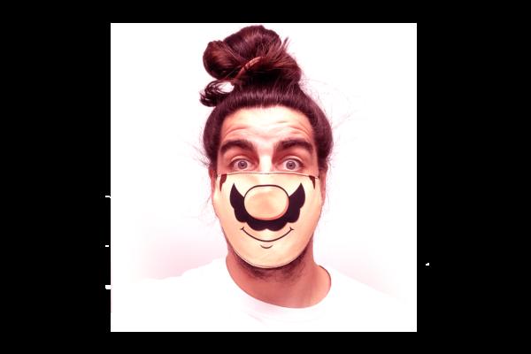 Mario mintás sima szájmaszk termék kép