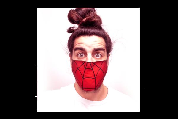 Pókember mintás sima szájmaszk termék kép