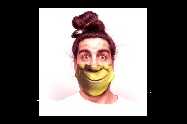 Shrek mintás sima szájmaszk termék kép