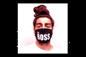 The Boss mintás sima szájmaszk termék kép