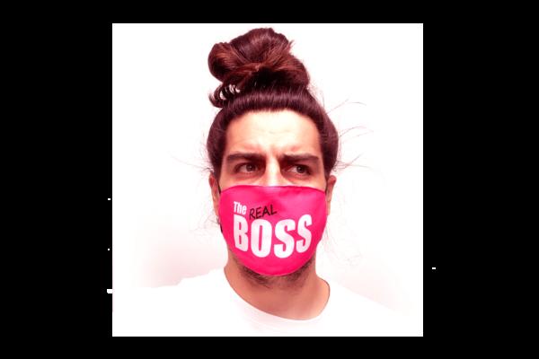 The Real Boss mintás sima szájmaszk termék kép