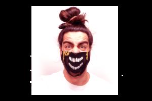 Zombi 3 mintás sima szájmaszk termék kép