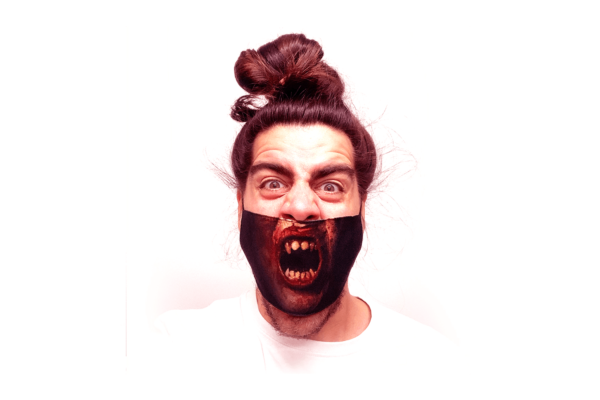 Zombi mintás sima szájmaszk termék kép