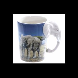 Elefánt fülű állatos kerámia bögre termék kép