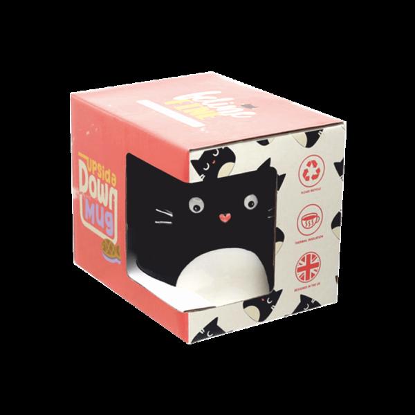 Fordított cica állatos kerámia bögre termék kép 1