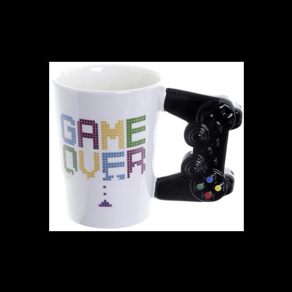 Különleges formájú Game Over kerámia bögre játékkonzol füllel termék kép