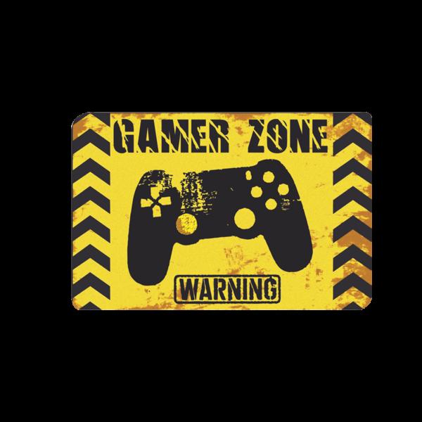 Gamer zone warning mintás lábtörlő termék kép
