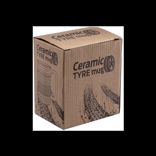 Gumiabroncs formájú kerámia bögre termék kép 2