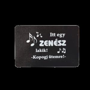 Itt egy zenész lakik feliratos mintás lábtörlő termék kép