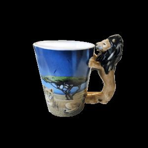 Oroszlán fülű állatos kerámia bögre termék kép