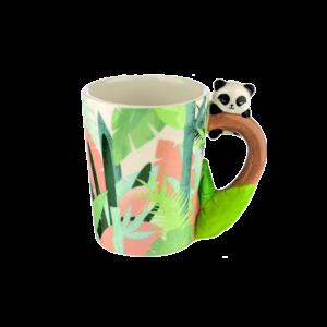 Pandafülű állatos kerámia bögre termék kép