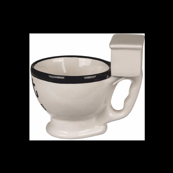 Wc csésze formájú kerámia bögre víztartállyal termék kép 1