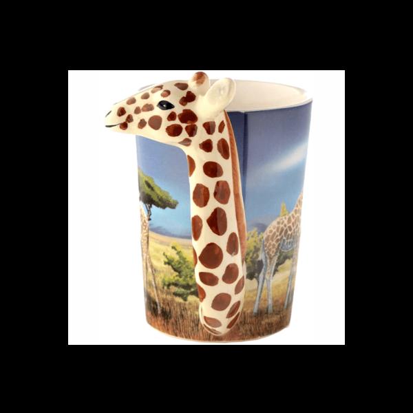 Zsiráf fülű állatos kerámia bögre termék kép 1