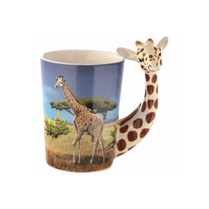 Zsiráf fülű állatos kerámia bögre termék kép