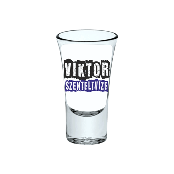 Viktor szenteltvize neves pálinkás pohár termék kép
